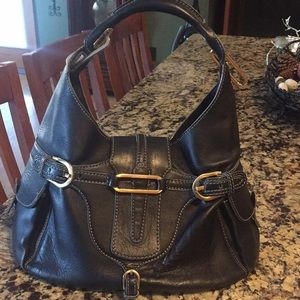 Jimmy Choo black leather authentic bag